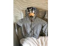 H&M grey zip hoody age 2-3 years