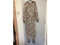 Giraffe print onesie