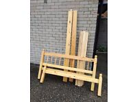 Double bed - solid wood - good condition - no mattress