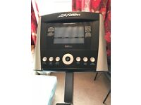 Life Fitness C1 upright exercise bike with GO console