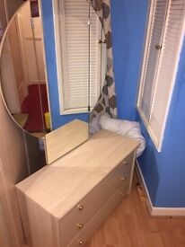 Chest of drawers & Wardrobe