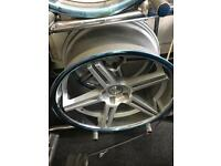 """Bmw 5 6 7 series 20 """" staggered concave alloy wheels"""