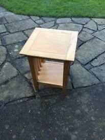 Marks and Spencers soild beech side table