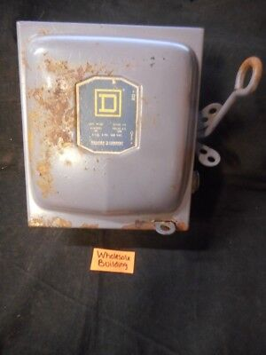 SQUARE D, FUSIBLE SWITCH 99351, 30A, 240VAC, 3HP, 3 PHASE
