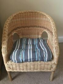 Toddlers wicker chair