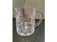 Edinburgh Crystal pint tankard - brand new