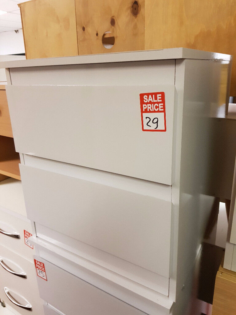 Hygena Inanna 2 Drawer Bedside Chest - White second