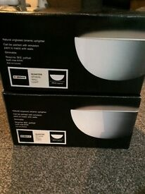 Brand New boxed pair of Quarter Sphere Wall Lights