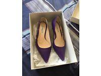 LK Bennett purple kitten heels. Excellent condition.