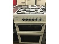 60CM WHITE FLAVEL GAS COOKER