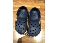 Kids Navy crocs size 10-11