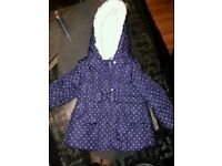 Girls coat age 3/4 good condition