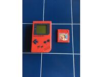Nintendo Gameboy DMG Red Play It Loud + Pokemon Red