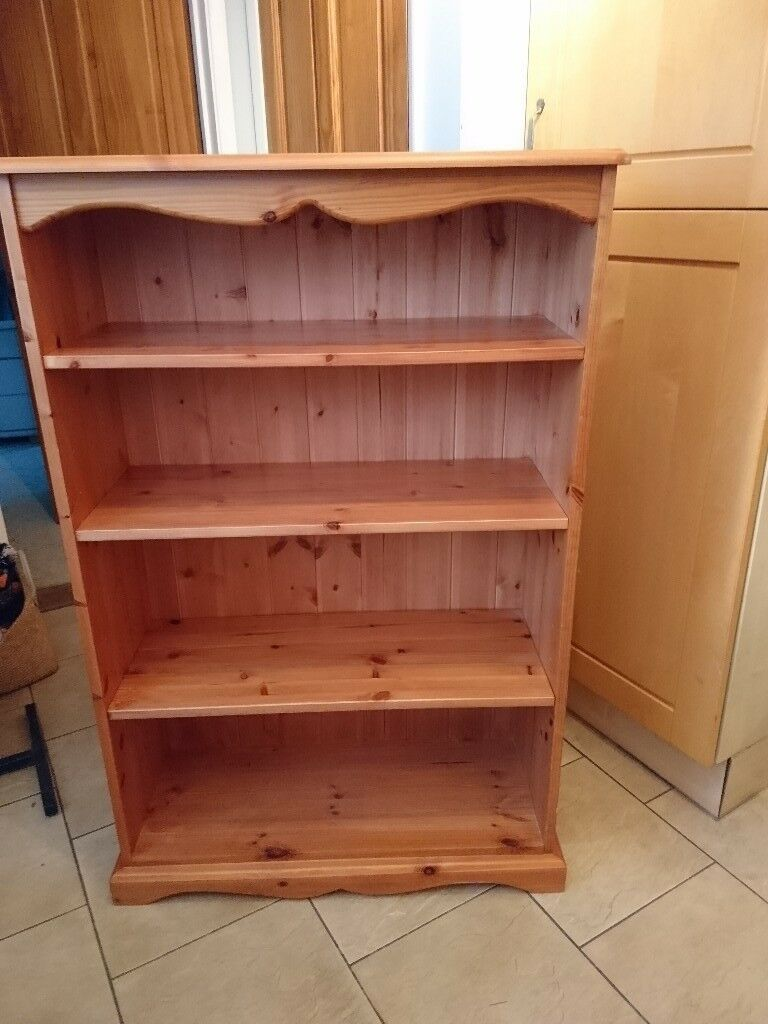 Bookcase made from solid pine.