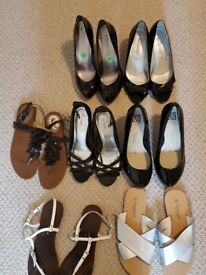 Ladies assorted shoes