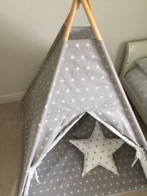 Children's Star Fabric Play Tipi
