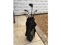 Left handed child's golf clubs