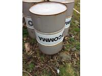 Oil drums for sale. Ideal BBQ or fire pit.