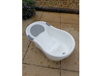 Tippitoes Baby Bath - White/Grey - Hardly Used