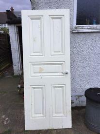 1930s Panel Solid Core Hardwood Door Edwardian Victorian Style 1hr Fire Check