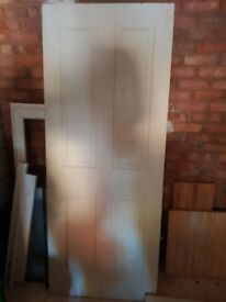 4 panel grained door fire door