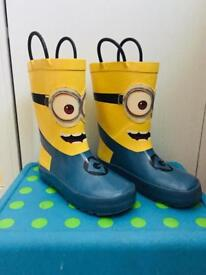Kids' Despicable Me™ Minion Welly Boots Very Good Condition! size 11/eur 29