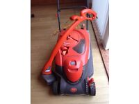 Flymo electric mower and strinmer