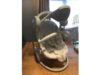 Mamas and Papas Baby Swing with lights and music