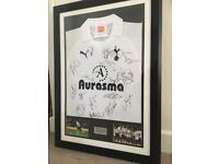 Signed Tottenham/Spurs Shirt Framed