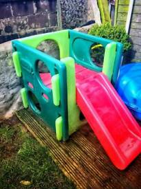 Climbing pod and slide for under 5's.