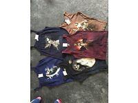 Vests/tops. Ladies. Various designs/sizes/colours.