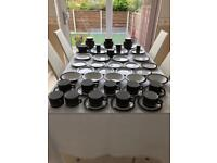 Hornsea Contrast tableware. Cups, saucers, plates, dishes & more! 51 pieces in total.