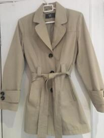 Beige 3/4 length lined coat from BHS size 12