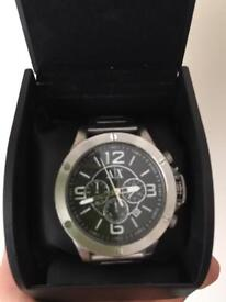 Armani exchange silver watch with box and spare links