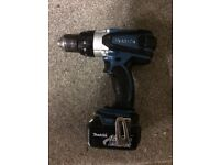 Makita 18v combi drill with charger and battery