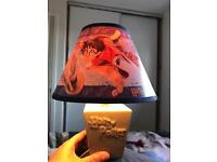 RARE HARRY POTTER LAMPSHADE (LIGHT) AND DETAILED BASE