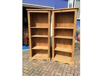 Pair of Solid Pine Bookcases (Corona)
