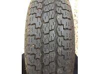Caravan spare wheel and tyre