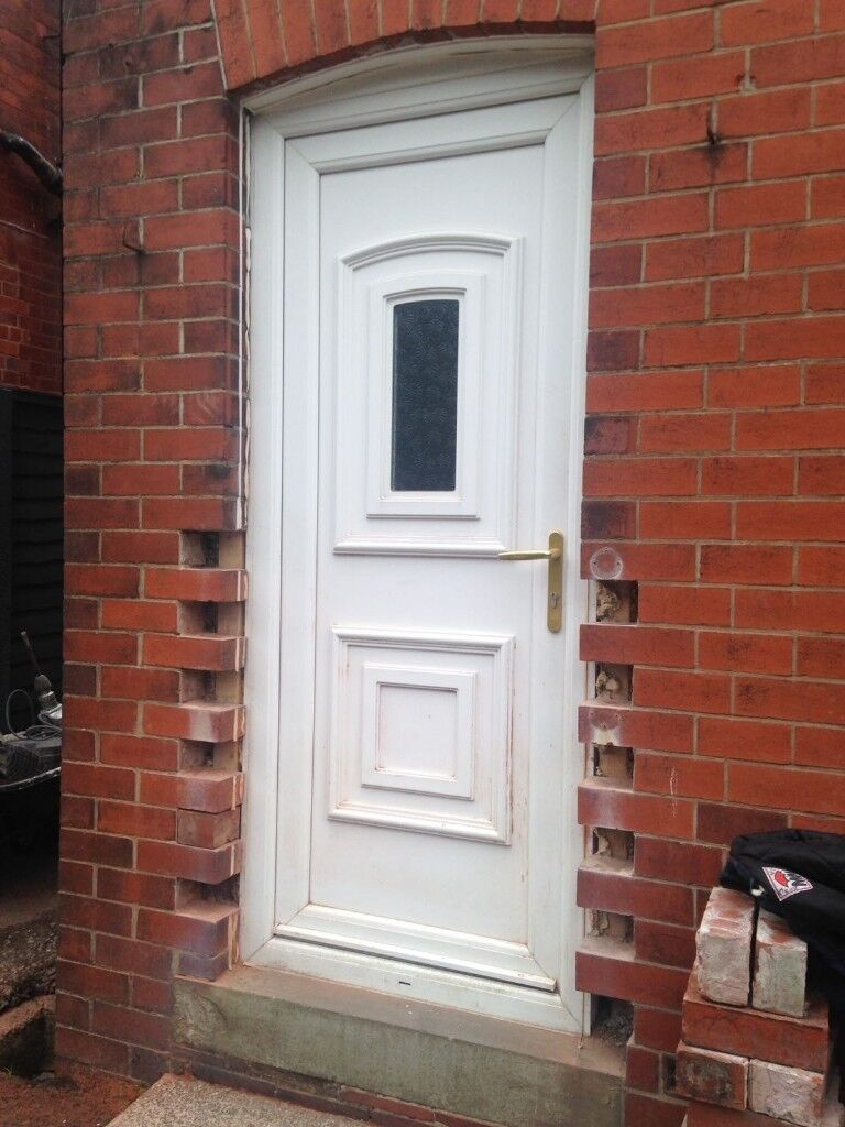 Upvc Back Door Good Condition Approx 4 Years Old In