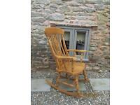 ROCKING CHAIR Solid Pine Beautiful As New condition £90 0no Telephone 07890682228