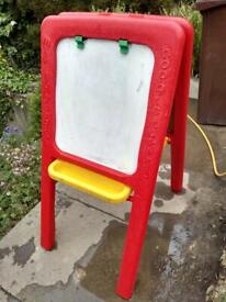 Early Learning Centre double sided easel. Blackboard on one side and magnetic on the other side.