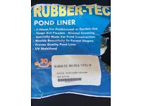 Koi fish pond Rubber tec liner 6MT x 5.5MT