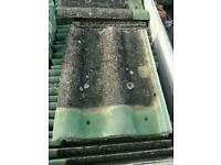 Black concrete roofing tiles