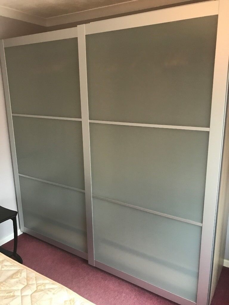 sports shoes 07801 1797d Ikea PAX wardrobe with glass sliding doors. Great condition | in Neath,  Neath Port Talbot | Gumtree