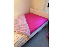 White IKEA Double-Bed with Mattress