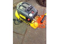 Stanley Portable D200/8/24 compressor and accessories