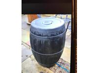 Large plastic barrel