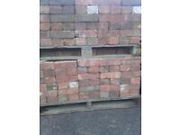 Reclaimed red wirecut bricks