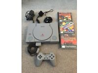 Sony PlayStation with 3 games