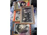 Music Memorabilia 4 vintage wooden framed mirrors Abba rod Stewart..